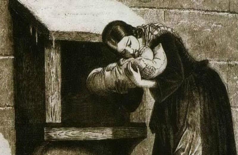 Mãe deixa o filho na Roda dos Expostos